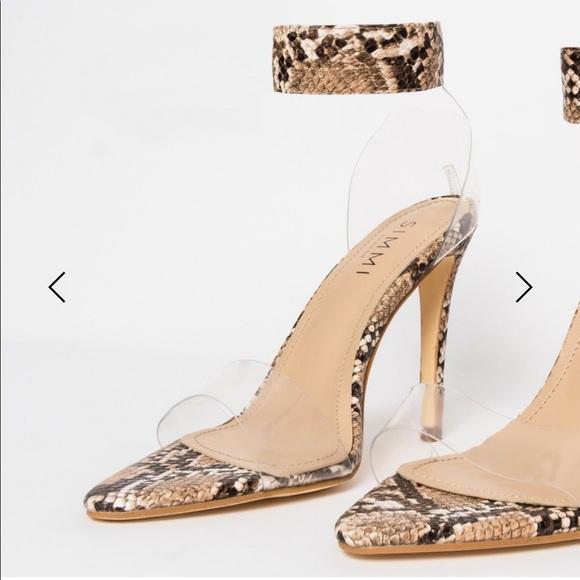 Simmi London Snake Skin Heels